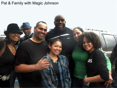 Pat & Family with Magic Johnson